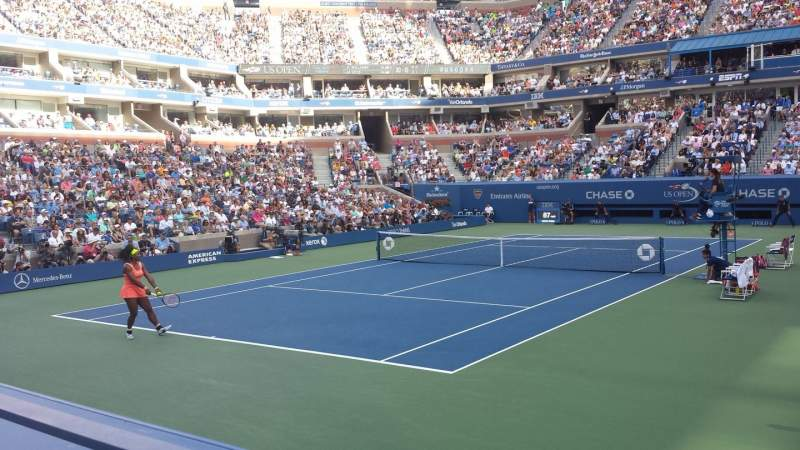Seating view for Arthur Ashe Stadium Section 40 Row E  Seat 3