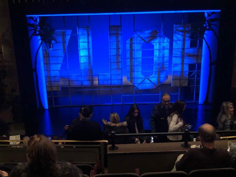 Seating view for Nederlander Theatre Section Mezzanine C Row N Seat 110