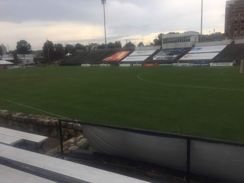 Seating view for American Legion Memorial Stadium Section 15R Row F Seat 13