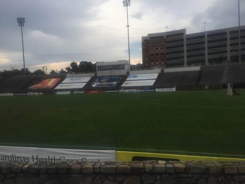 Seating view for American Legion Memorial Stadium Section 16R Row F Seat 17