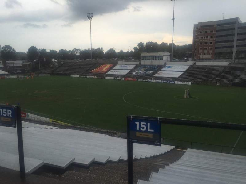 Seating view for American Legion Memorial Stadium Section 2 Row CC Seat 11