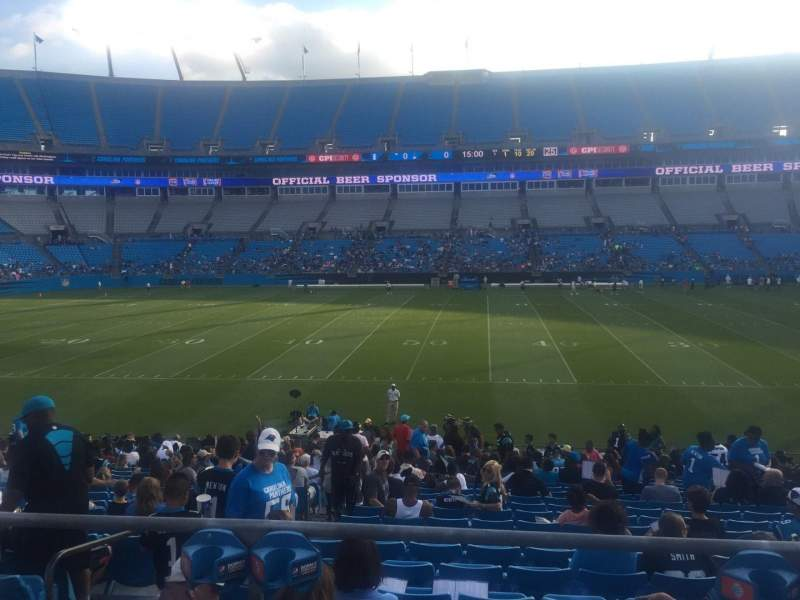 Seating view for Bank of America Stadium Section 111 Row 21 Seat 21
