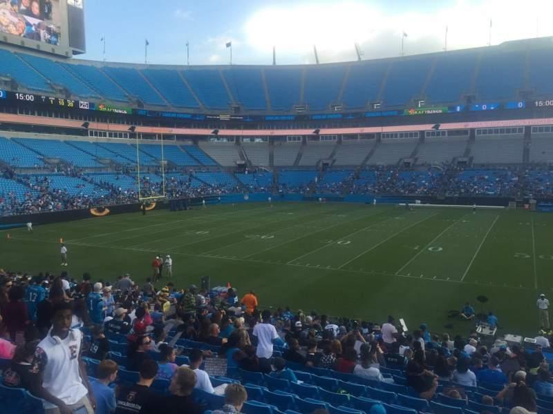 Bank of America Stadium, section: 111, seat: 20