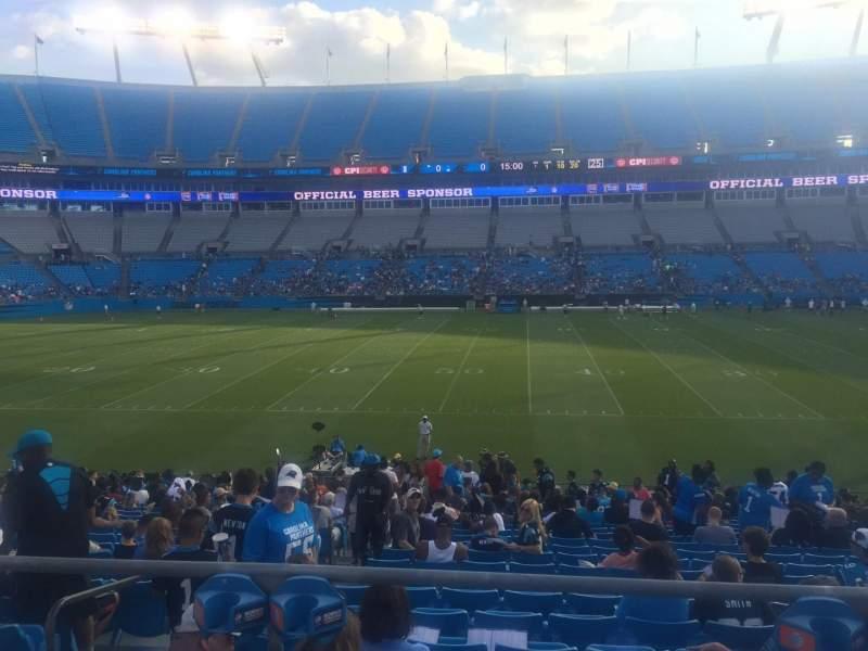 Bank of America Stadium, section: 111, seat: 18