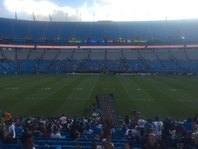 Bank of America Stadium, section: 111, row: 14, seat: 17