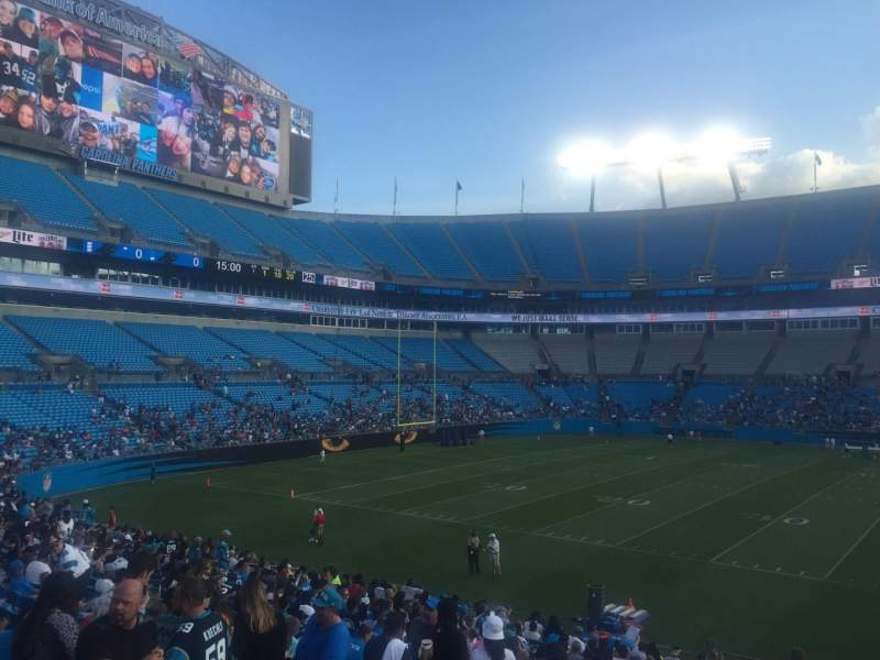 Seating view for Bank of America Stadium Section 112 Row 21 Seat 19
