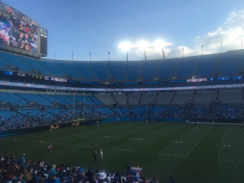 Seating view for Bank of America Stadium Section 112 Row 20 Seat 17