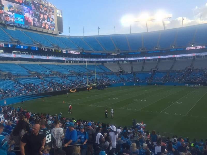 Bank of America Stadium, section: 114, row: 15, seat: 21