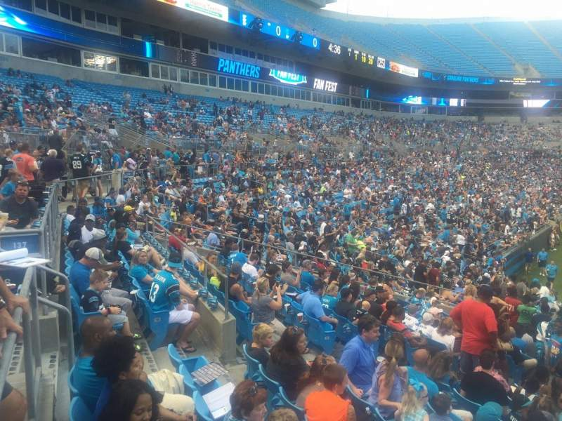Seating view for Bank of America Stadium Section 136 Row 22 Seat 18
