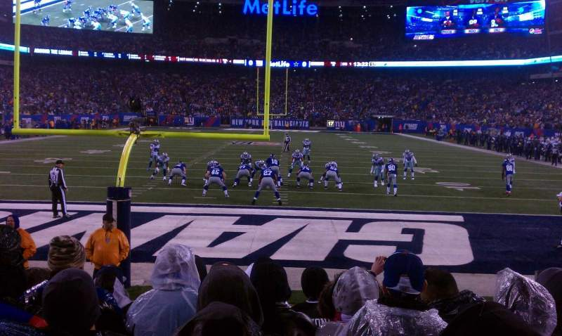 Seating view for Metlife Stadium Section 101 Row 6 Seat 5