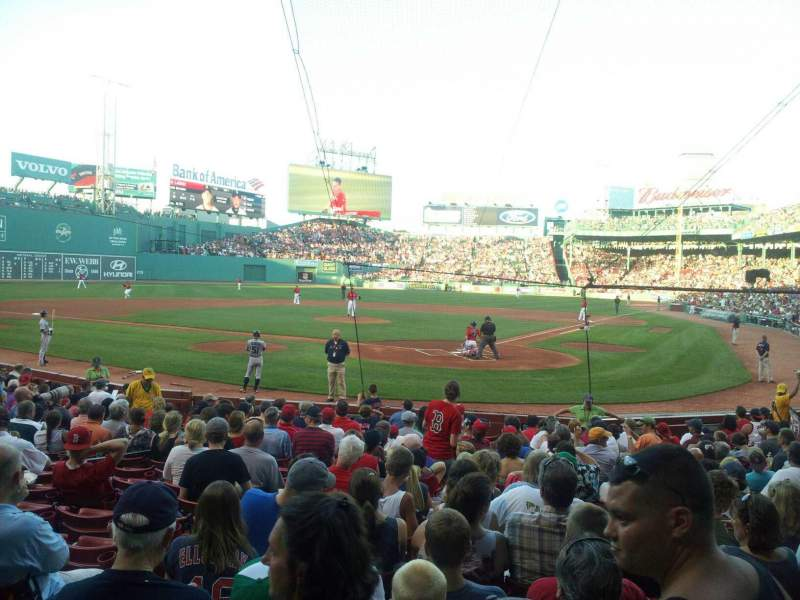 Seating view for Fenway Park Section Loge Box 134 Row aa Seat 4