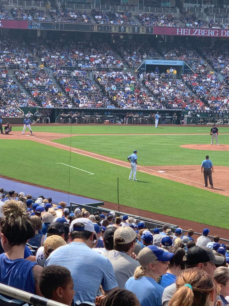 Seating view for Kauffman Stadium Section 243 Row BB Seat 2