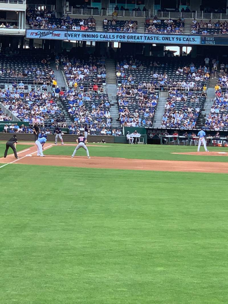 Seating view for Kauffman Stadium Section 148 Row J Seat 12