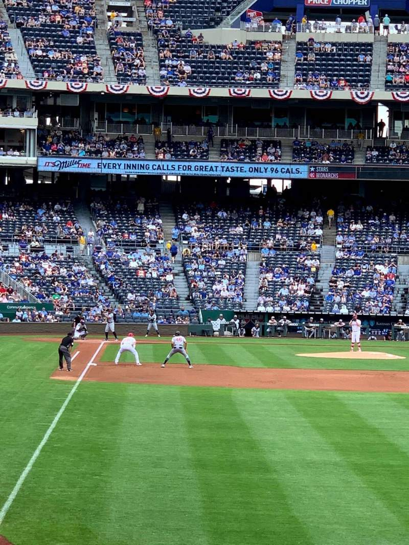 Seating view for Kauffman Stadium Section 148 Row P Seat 12