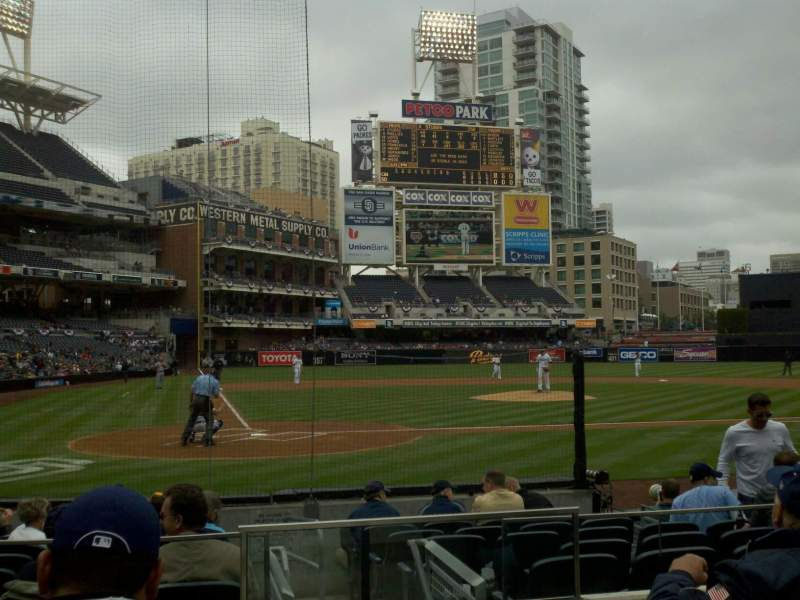 Seating view for PETCO Park Section 103 Row 11 Seat 11