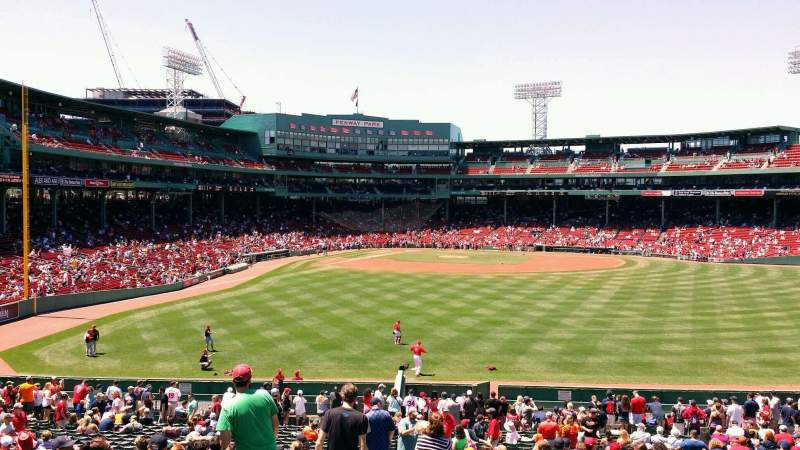Seating view for Fenway Park Section Bleacher 41 Row 36 Seat 23