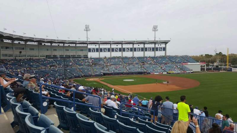 Seating view for George M. Steinbrenner Field Section 201 Row L Seat 5