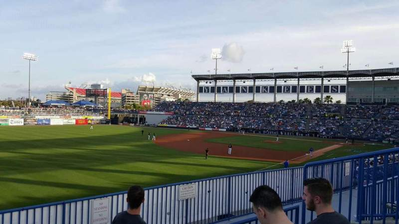 Seating view for George M. Steinbrenner Field Section 221 Row C Seat 6