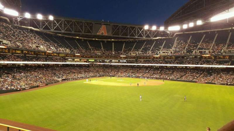 Seating view for Chase Field Section Strikezone Row GA2 Seat 38