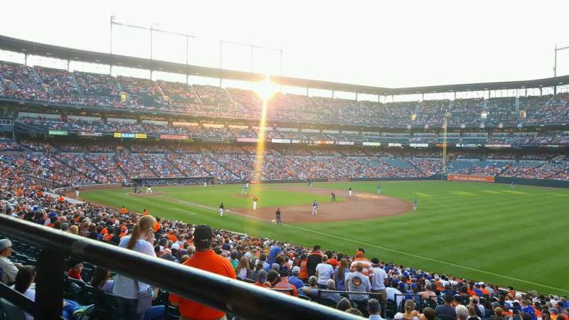 Seating view for Oriole Park at Camden Yards Section 11 Row 1 Seat 4