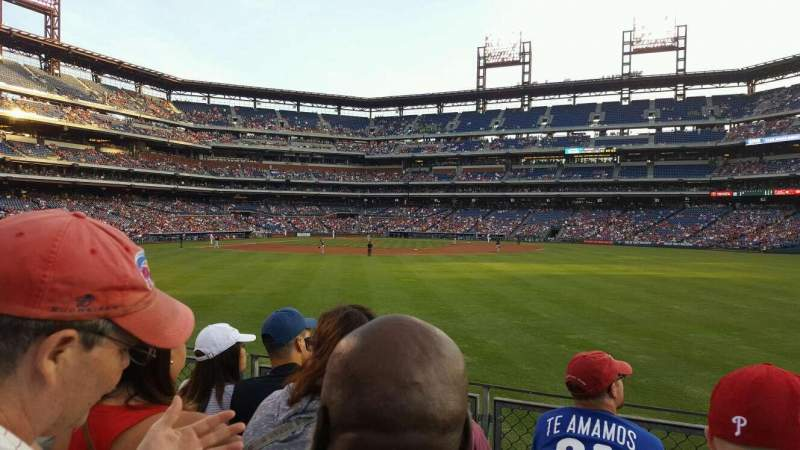 Seating view for Citizens Bank Park Section 102 Row 4 Seat 3