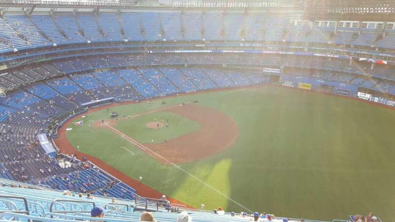 Seating view for Rogers Centre Section 513R Row 27 Seat 4