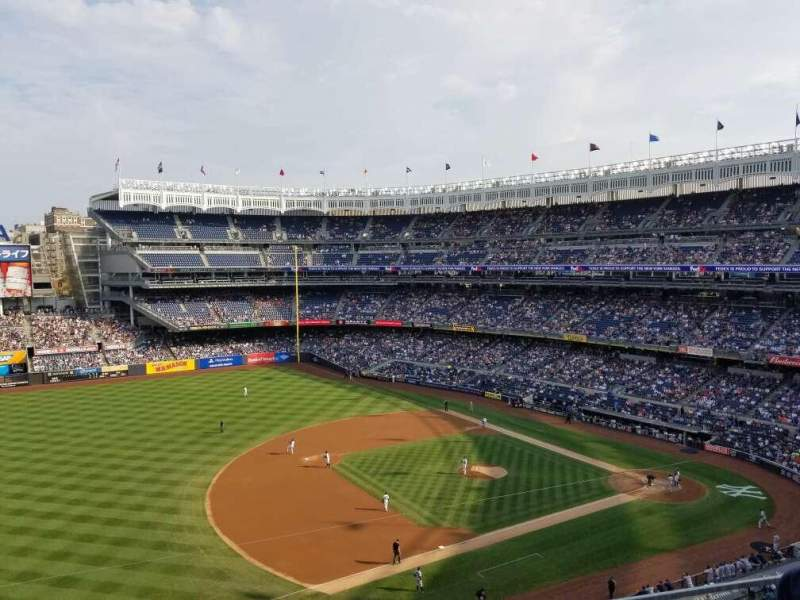 Seating view for Yankee Stadium Section 327 Row 2 Seat 17