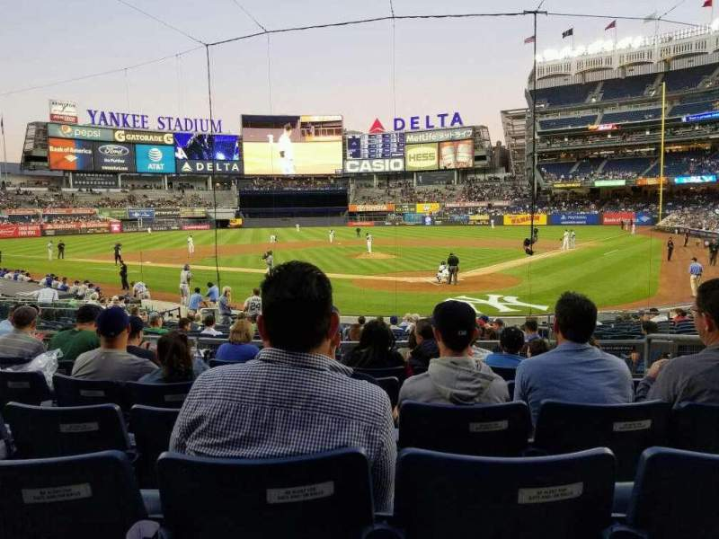 Seating view for Yankee Stadium Section 121a Row 7 Seat 4