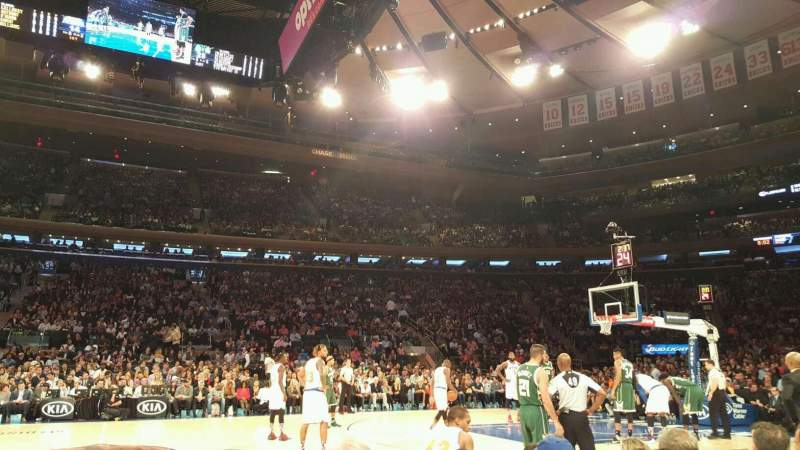 Seating view for Madison Square Garden Section 5 Row 3 Seat 10
