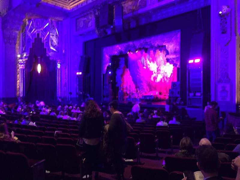 Seating view for Hollywood Pantages Theatre Section Orchestra R Row V Seat 110
