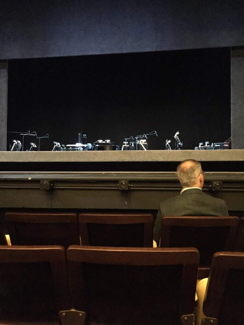 Seating view for Hudson Theatre Section Orchestra C Row D Seat 112