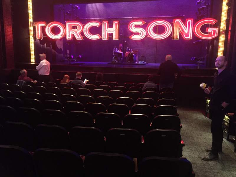 Seating view for Hayes Theater Section Center Orchestra Row L Seat 101