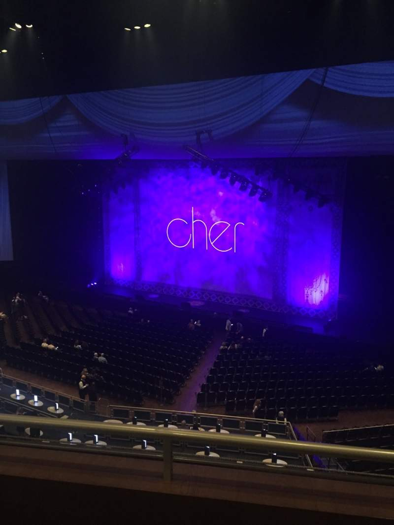 Seating view for Park Theater at Park MGM Section 403 Row B Seat 10