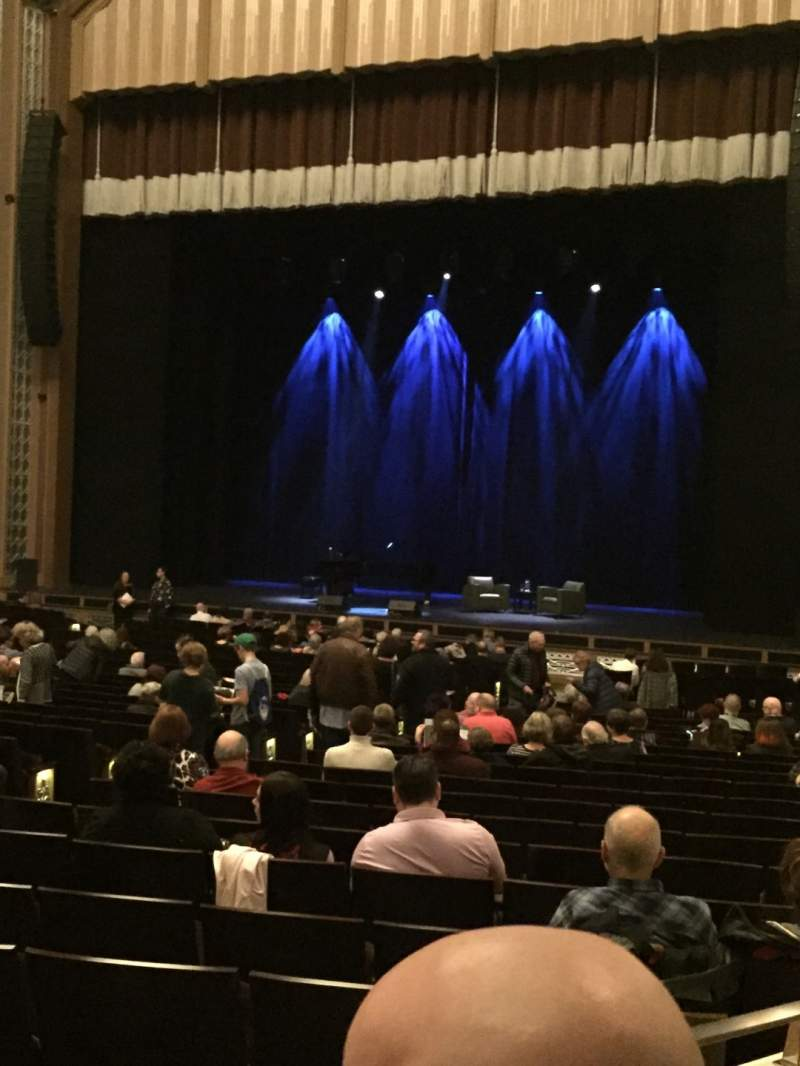 Seating view for Reynolds Hall at The Smith Center Section Right parterre Row XX Seat 309
