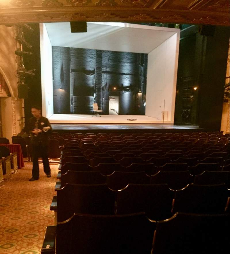 Seating view for John Golden Theatre Section Orchestra C Row Q Seat 118