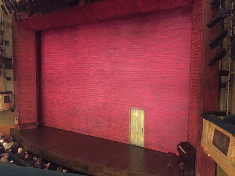 Seating view for Shubert Theatre Section Mezzanine R Row A Seat 14