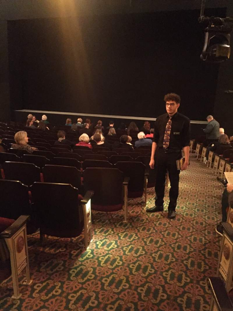 Seating view for Bernard B. Jacobs Theatre Section Orchestra R Row O Seat 2