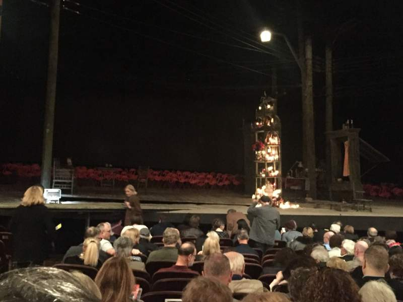 Seating view for American Airlines Theatre Section Orchestra C Row N Seat 113