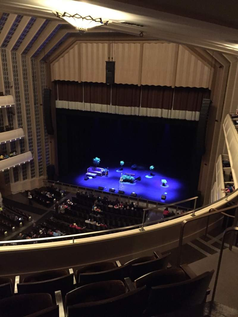 Seating view for Reynolds Hall at The Smith Center Section Right Gallery Row D Seat 309