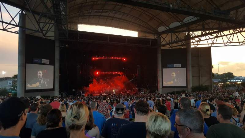 Seating view for MidFlorida Credit Union Amphitheatre Section 13 Row H Seat 14