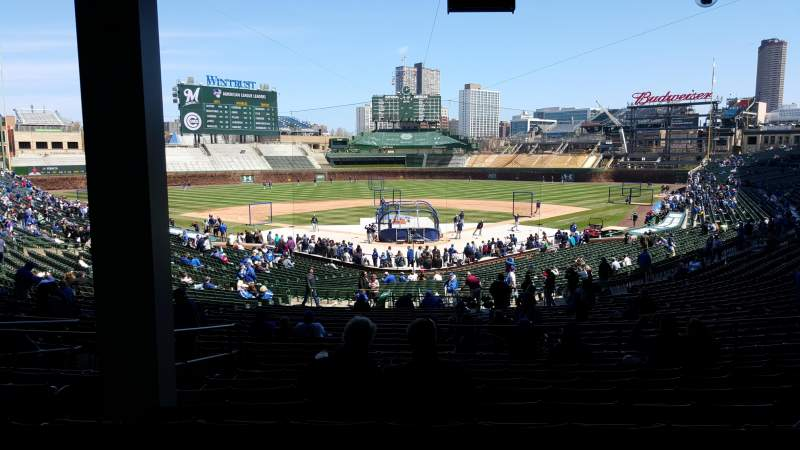Seating view for Wrigley Field Section 220 Row 11 Seat 5