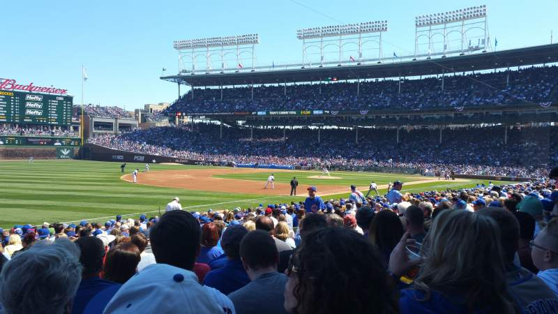 Seating view for Wrigley Field Section 106 Row 9 Seat 5