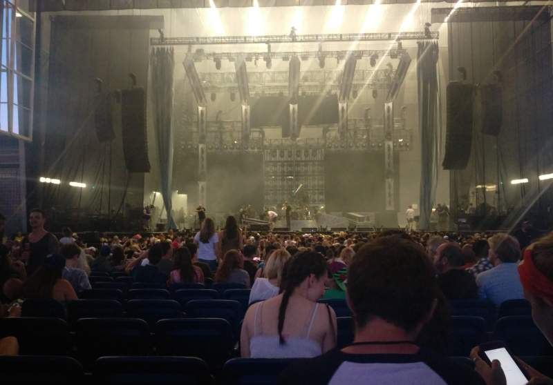 Seating view for Budweiser Stage Section 202 Row M Seat 21