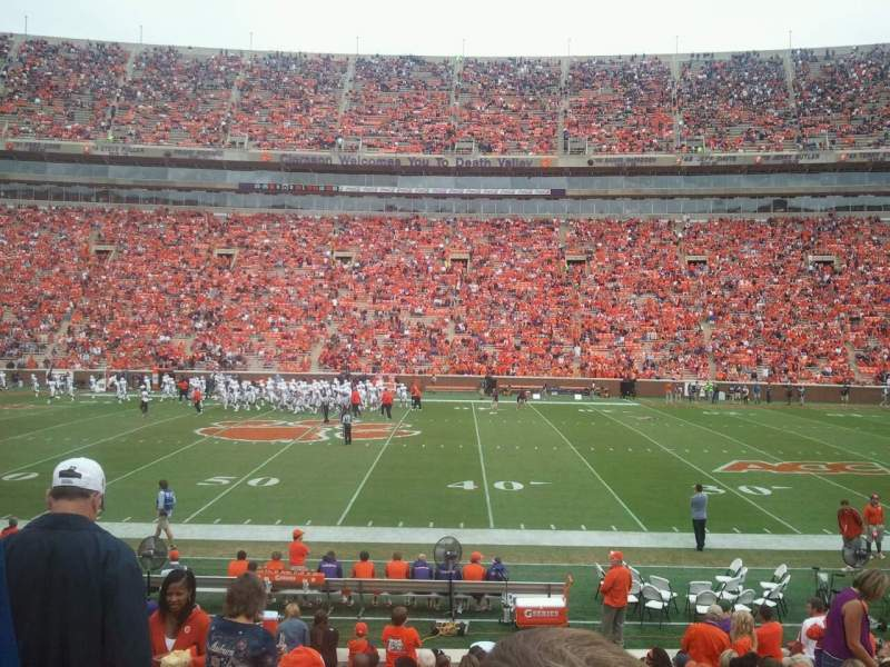 Seating view for Memorial Stadium, Clemson Section E Row R Seat 4