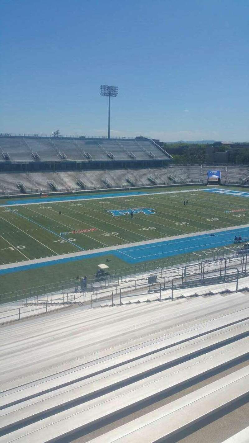 Seating view for Johnny Red Floyd Stadium Section 2TT Row 25 Seat bleacher