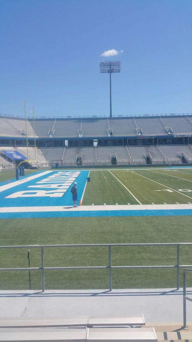 Seating view for Johnny Red Floyd Stadium Section 2T Row 7 Seat bleacher