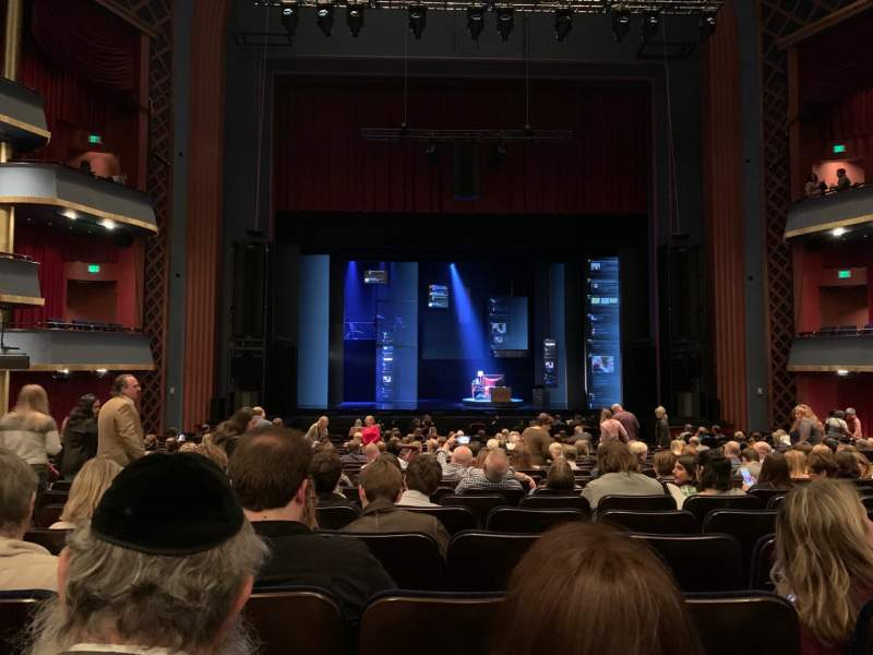 Seating view for Sarofim Hall Section CORCH Row V Seat 101