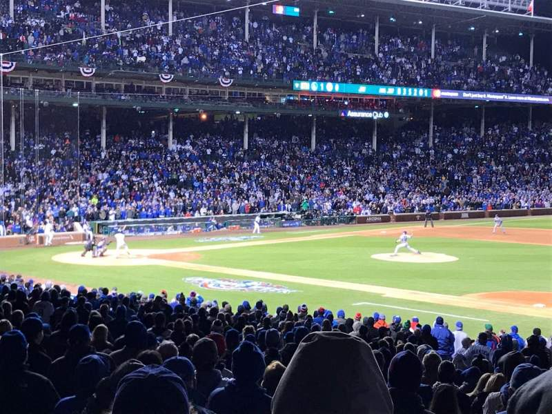 Seating view for Wrigley Field Section 233 Row 3 Seat 103