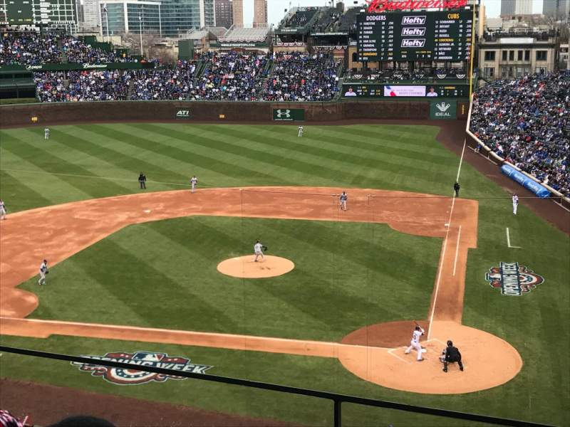 Seating view for Wrigley Field Section 417 Row 2 Seat 101