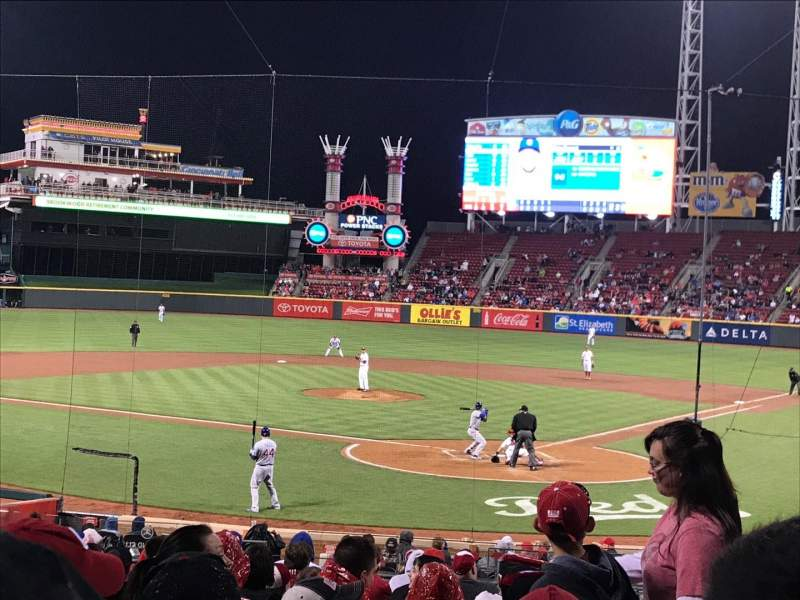 Seating view for Great American Ball Park Section 121 Row BB Seat 103